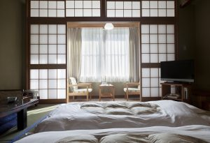 Traditional Japanese Ryokan Inn Room