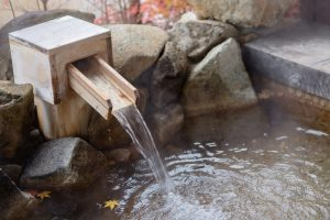 Onsen Bath Hot Spring Spout