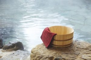 Onsen Bath Bucket with Towel
