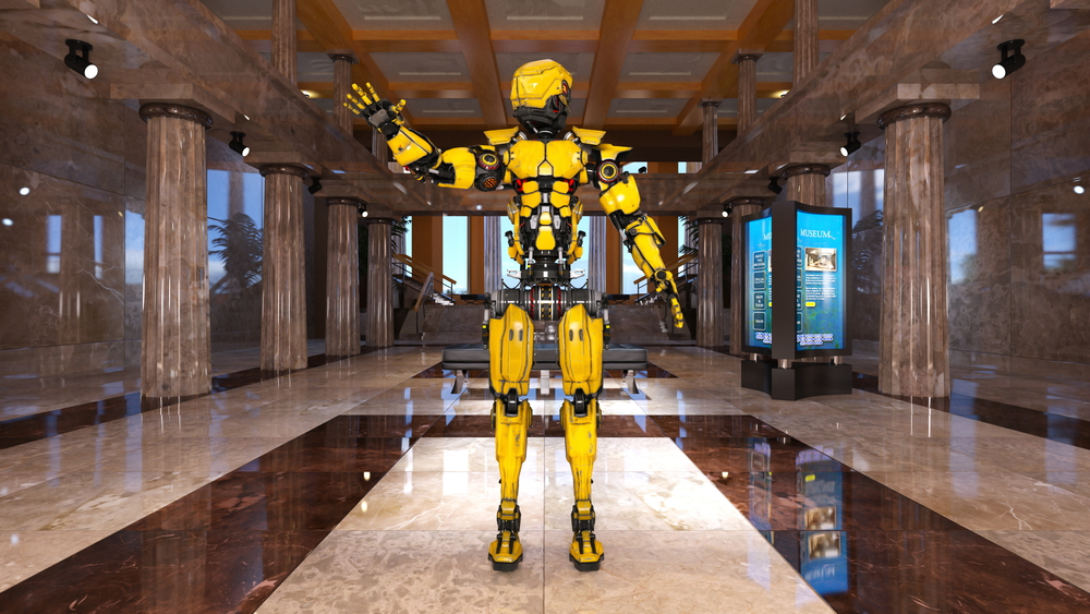 Robot Inside Hotel Future
