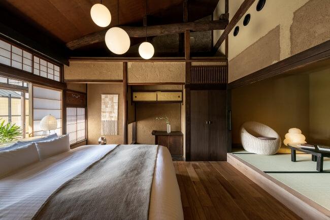 """""""和菓子""""がテーマの旅館「Nazuna 京都 御所」が開業、京町家2棟を改修し現代風にアレンジ"""