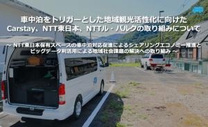 車中泊スポット検索サービス「Carstay」NTTグループと連携し日光市で駐車スペースを提供開始